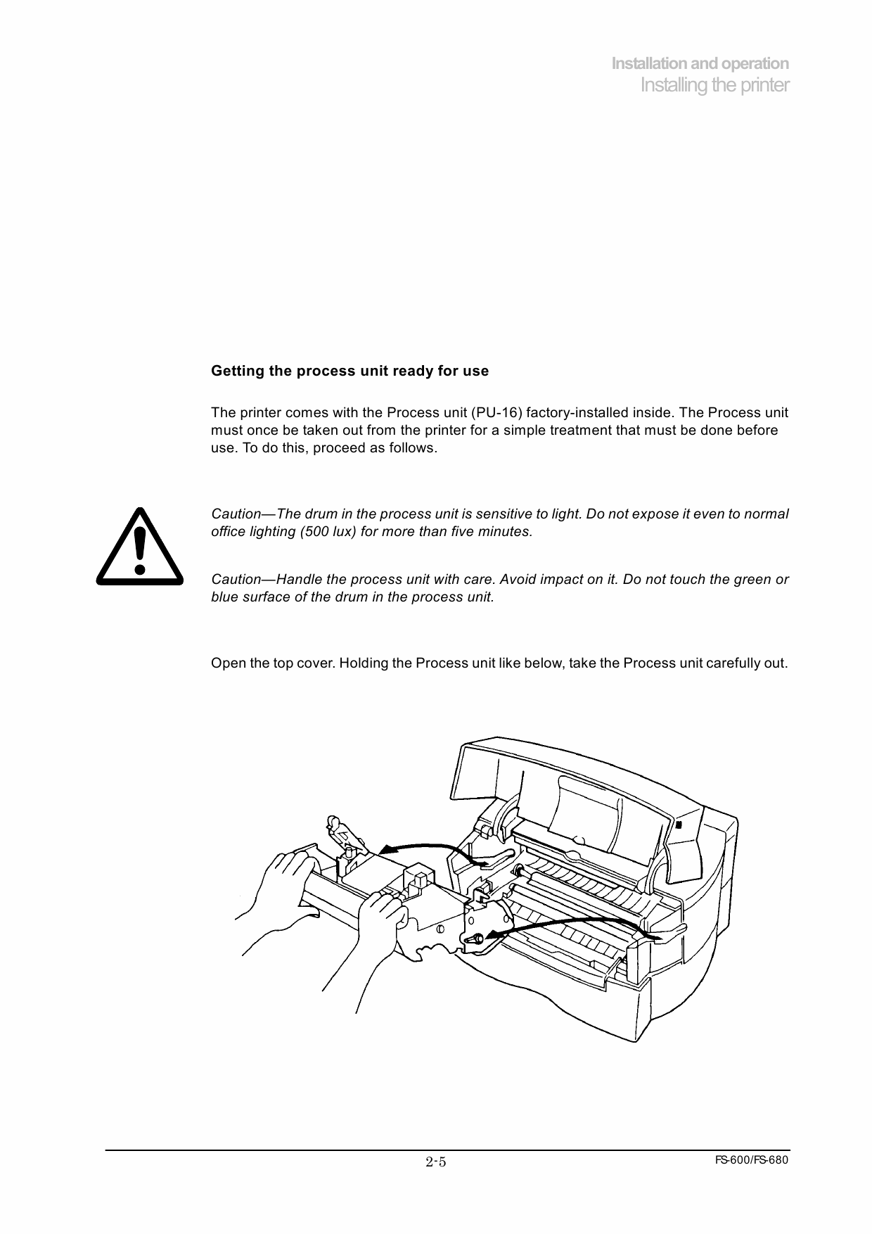 KYOCERA LaserPrinter FS-600 680 Parts and Service Manual-2